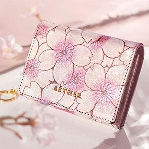 AETHER(エーテル) ヌバックレザー4wayミニ財布 サクラ・ジュール P3530025